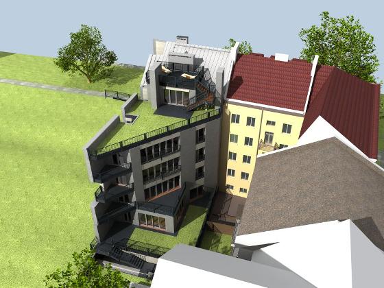 Wizualizacja inwestycji Grottgera 34 w Krakowie